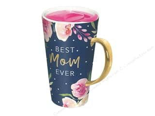 Lady Jayne Mug Travel Navy Roses Best Mom Ever