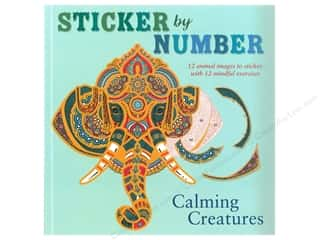 St Martin's Griffin Sticker By Number Calming Creatures Book