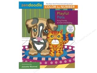 books & patterns: St Martin's Griffin Zendoodle Color By Number Playful Pets Book