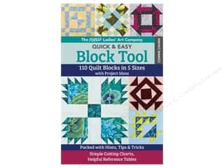 books & patterns: C&T Publishing New Ladies Art Company Quick & Easy Block Tool Book