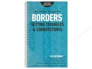 books & patterns: C&T Publishing Free-Motion Designs For Borders Setting Triangles and Cornerstones Book
