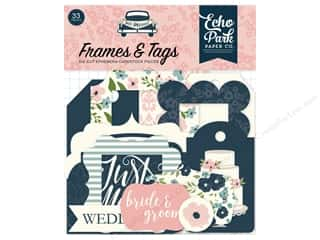 Clearance: Echo Park Collection Just Married Ephemera Frames & Tags