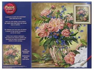 craft & hobbies: Paintworks Paint By Number Kit 16 x 20 in. Peony Floral