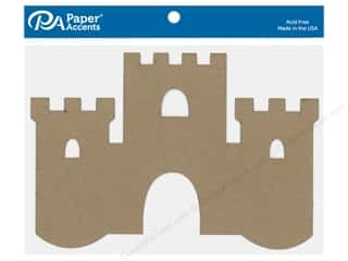 Paper Accents Chip Shape Castle Natural 4 pc
