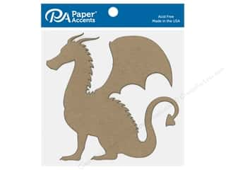 scrapbooking & paper crafts: Paper Accents Chip Shape Dragon Natural 6 pc