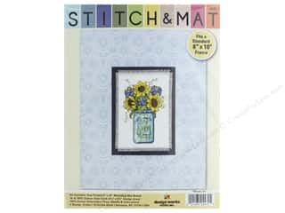 yarn & needlework: Design Works Stitch & Mat Kit Floral Jar
