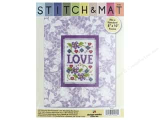 yarn: Design Works Stitch & Mat Kit Mat Love