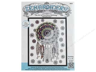 stamps: Design Works Zenbroidery Fabric 14 in. x 18 in. Dreamcatcher