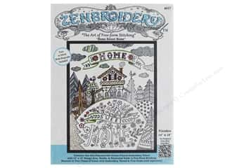 stamps: Design Works Zenbroidery Fabric 14 in. x 18 in. Home Sweet Home