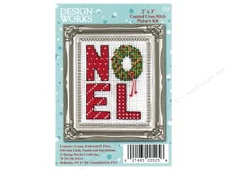 projects & kits: Design Works Counted Cross Stitch Kit 2 x 3 in. Noel