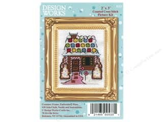 yarn & needlework: Design Works Counted Cross Stitch Kit 2 x 3 in. Gingerbread House