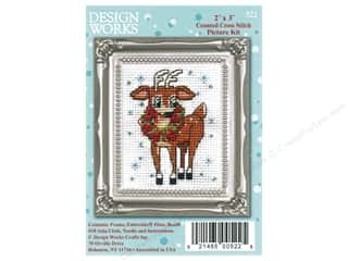 yarn & needlework: Design Works Counted Cross Stitch Kit 2 x 3 in. Reindeer