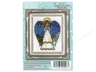 yarn & needlework: Design Works Counted Cross Stitch Kit 2 x 3 in. Angel