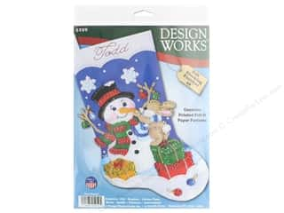 yarn: Design Works Kit 18 in. Felt Stocking Busy Bunny
