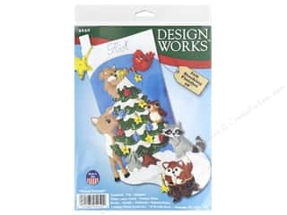 yarn & needlework: Design Works Kit 18 in. Felt Stocking Forest Friends
