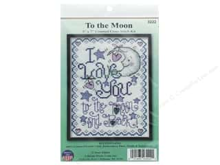 yarn & needlework: Design Works Counted Cross Stitch Kit 5 x 7 in. To the Moon