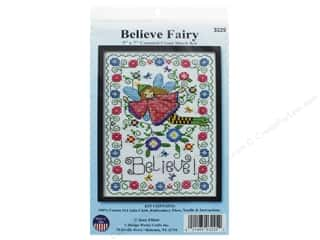 yarn & needlework: Design Works Counted Cross Stitch Kit 5 x 7 in. Believe Fairy