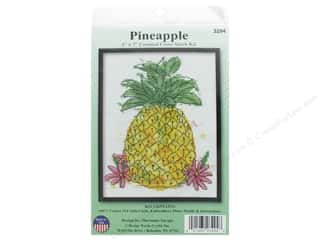 yarn & needlework: Design Works Counted Cross Stitch Kit 5 x 7 in. Pineapple