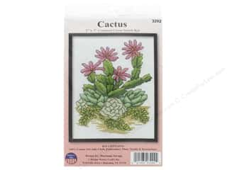 yarn & needlework: Design Works Counted Cross Stitch Kit 5 x 7 in. Cactus