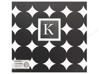 K & Company 12 x 12 in. Scrapbook Album Monogram Black Dot