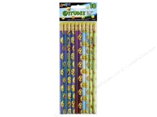 craft & hobbies: Liquimark Emoji AtiTUDES Silly Face Fashion Pencil 10 pc