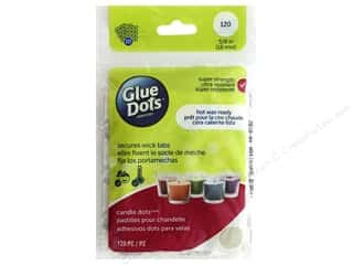 glues, adhesives & tapes: Glue Dots Candle 5/8 in. Sheet 120 pc