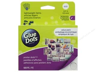 glues, adhesives & tapes: Glue Dots School Value Pack Poster 1/2 in. 600 pc.