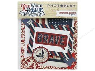 paper blue: Photo Play Collection Red White Blue Die Cut Pack