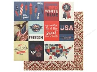 scrapbooking & paper crafts: Photo Play 12 x 12 in. Paper Red White Blue Rocket's Red Glare (25 pieces)