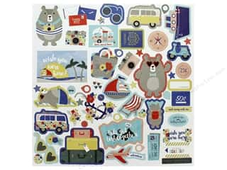 Photo Play Collection Lets Go Sticker Elements 12 in. x 12 in. (12 pieces)