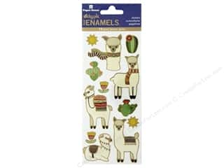 Paper House Sticker Enamel Llamas