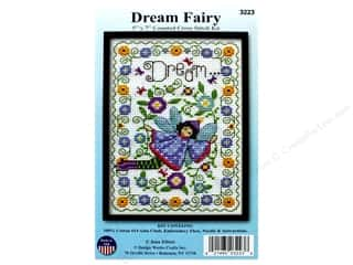 stamps: Design Works Cross Stitch Kit 5 in. x 7 in. Dream Fairy