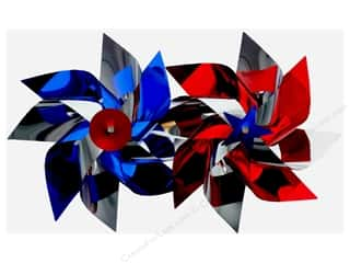 "craft & hobbies: Darice Pinwheel 7.75"" 2 Assorted Patriotic (6 pieces)"