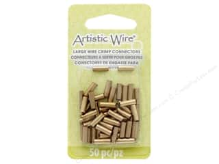 beading & jewelry making supplies: Artistic Wire Crimp Tubes 12 Ga 10 mm Gold 50 pc