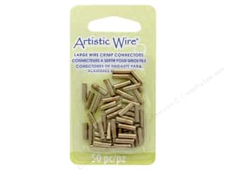 beading & jewelry making supplies: Artistic Wire Crimp Tubes 16 Ga 10 mm Gold 50 pc