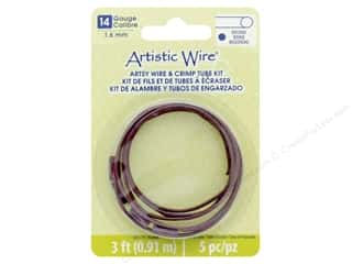 craft & hobbies: Artistic Wire Artsy Wire With Crimps 14 Gage Burgundy 3 ft