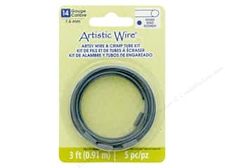 craft & hobbies: Artistic Wire Artsy Wire With Crimps 14 Gage Turquoise 3 ft