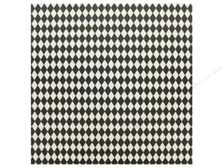Canvas Corp 12 x 12 in. Paper Black & Ivory Diamonds