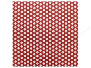 Canvas Corp Paper 12 in. x 12 in. Red & White Dot Reverse