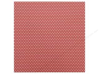 Canvas Corp Paper 12 in. x 12 in. Red & White Mini Dot Reverse (15 pieces)