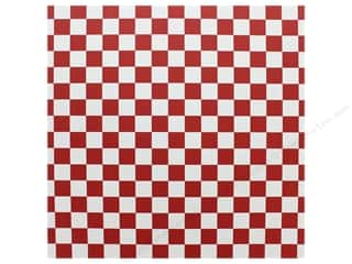 "12x12 white cardstock: Canvas Corp Paper 12""x 12"" Red & White Big Check (15 pieces)"
