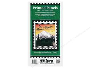 Zebra Patterns Printed Panel 18 in. x 21 in. Stamp Mt Rainier