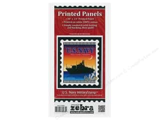 Zebra Patterns Printed Panel 18 in. x 21 in. Stamp Navy