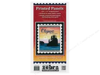 Zebra Patterns Printed Panel 18 in. x 21 in. Stamp Olympic National Park