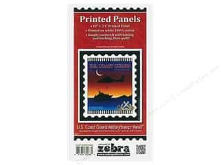 Zebra Patterns Printed Panel 18 in. x 21 in. Stamp Coast Guard