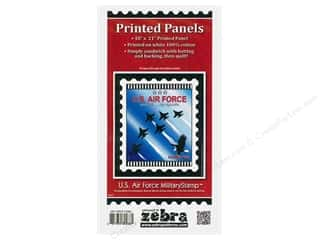 Zebra Patterns Printed Panel 18 in. x 21 in. Stamp Air Force