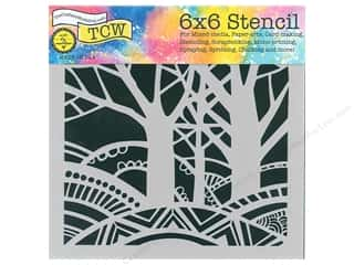 The Crafter's Workshop Stencil 6 in. x 6 in. Tree Paradise