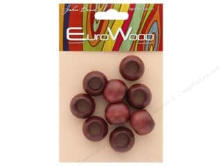 beading & jewelry making supplies: John Bead Wood Bead Round Large Hole 20 x 16 mm Mahogany