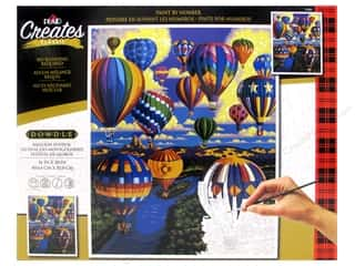 craft & hobbies: Plaid Paint By Number 16 in. x 20 in. Balloon Festival
