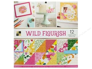 die cuts: DieCuts Stacks Paper 12 in. x 12 in. Wild Flourish Foil Gold